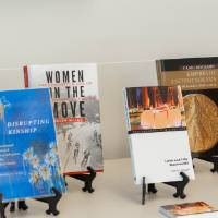 The six books that were featured at the event.